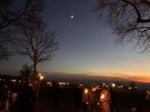 Auch der Mond schaut zu